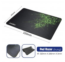 Pad Razer (X3- Nhám)- may viền : 245x320x3mm
